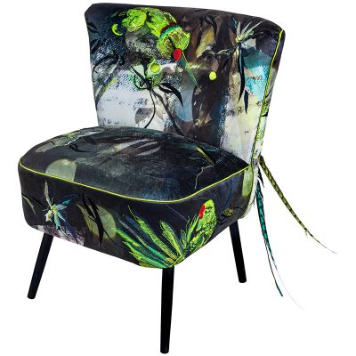 The Dandy Parakeets Cocktail Chair by Jacky Puzey