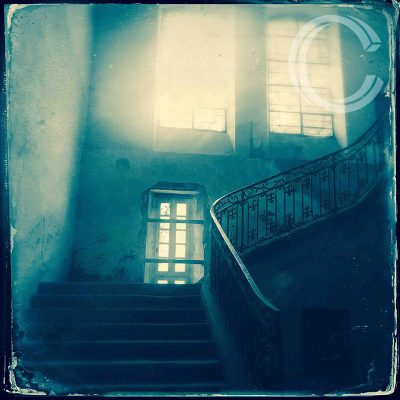 The Chateau Stairs by Carolyn Quartermaine