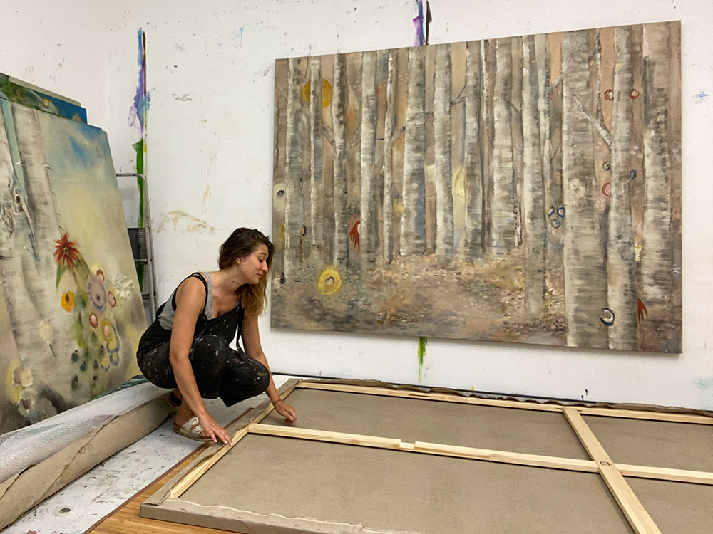 Diane Chappalley in her studio