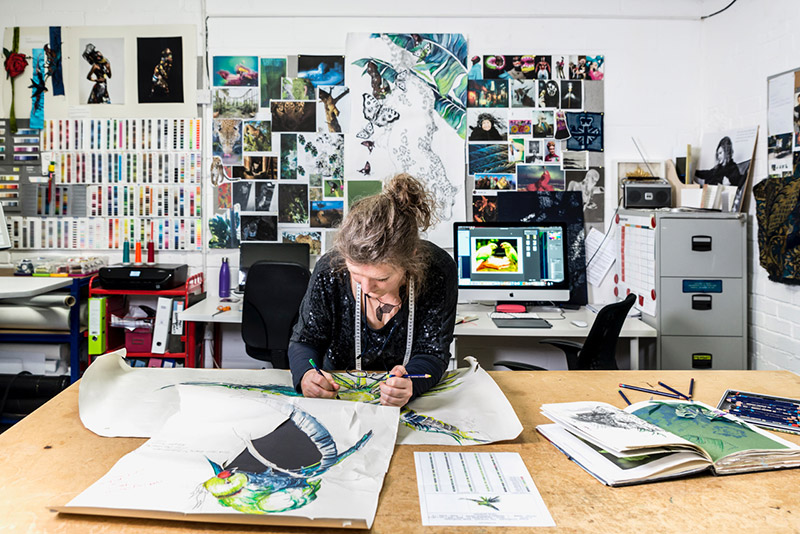 Jacky Puzey in her studio