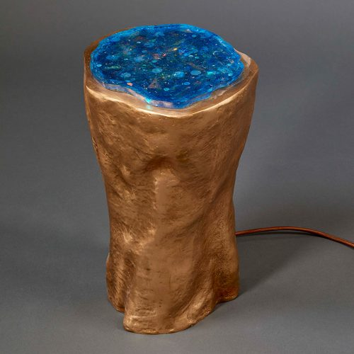 Geode Lamp (Blue) by Hélène de Saint Lager