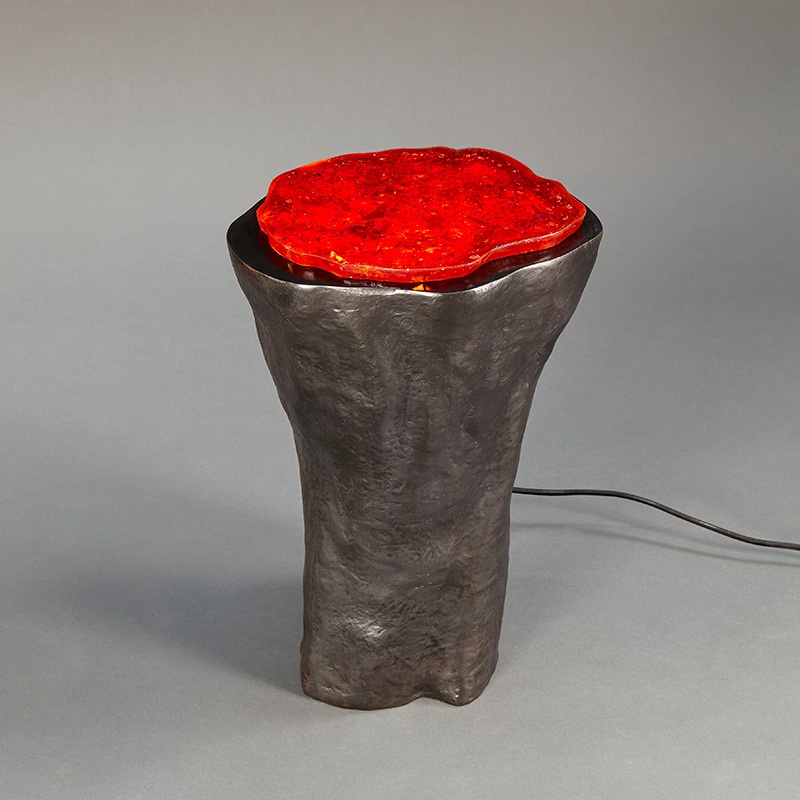 Geode Lamp (Red) by Hélène de Saint Lager