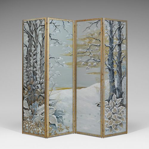 Le Chat four-panel screen by Joy de Rohan Chabot